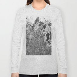Marble Mountain Black and White I Long Sleeve T-shirt