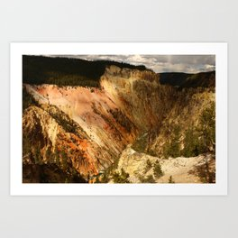 Yellow Rocks Of The Yellowstone Valley Art Print