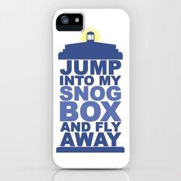 Snog Box (Tardis) iPhone Case