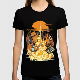 Smash! Zap!! Zooom!! - Butt-Chinned Captain T-shirt