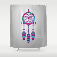 dreamcatcher Shower Curtains featuring Dreamcatcher by Angel Decuir