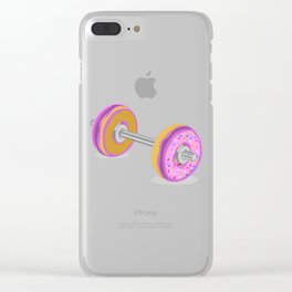 Donut Weight Artwork Clear iPhone Case
