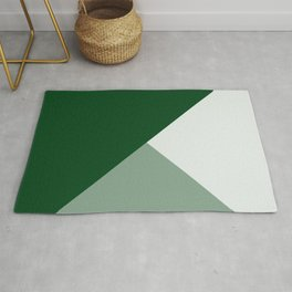 Trinity Color Block Forest Green 08441C Rug