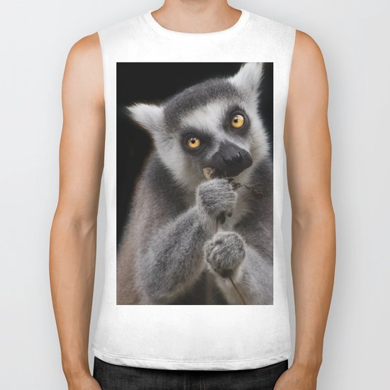 Lemur eating Biker Tank