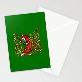 Celtic Fox Stationery Cards