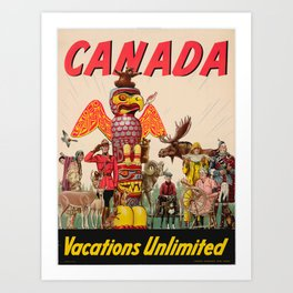 Vintage poster - Canada Art Print