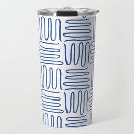 Squiggle Pattern Travel Mug