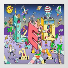 Leo Mural 8x8 Canvas Print