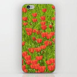 tulips field iPhone Skin