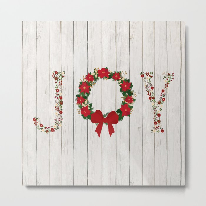 Joy Wreath #2 Metal Print