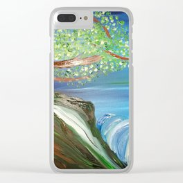 Tree by the Sea Clear iPhone Case