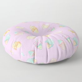 Pastel Melted Ice Cream (Lavender) Floor Pillow