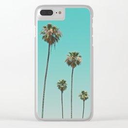 palm trees. las palmeras Clear iPhone Case