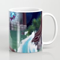 arya Mugs featuring Guardian of The Forest by Sara Poveda