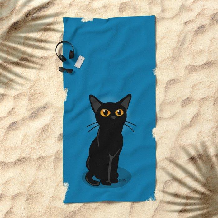Looking at something Beach Towel