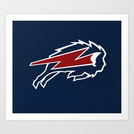 BOLT BUFFALO Art Print