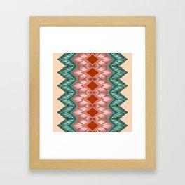 Diamond Leaves Pattern Framed Art Print