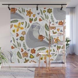 Sloth Pattern #1 Wall Mural