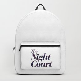 The Night Court Galaxy Design White Backpack
