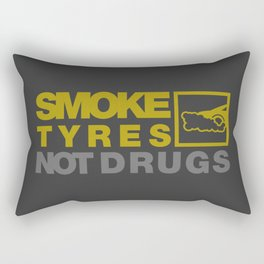 SMOKE TYRES NOT DRUGS v3 HQvector Rectangular Pillow
