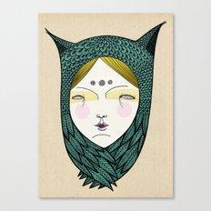 The owl girl Canvas Print