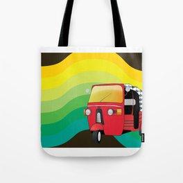 Tuk Tuk: Ride Waves of Color Tote Bag