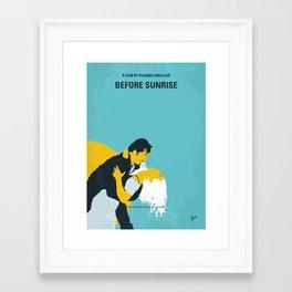 No1011 My Before Sunrise minimal movie poster Framed Art Print