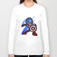 captain Long Sleeve T-shirts featuring Captain by red monster studios