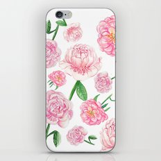 Watercolor Peonies iPhone & iPod Skin