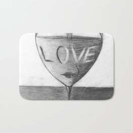 Glass of love Bath Mat