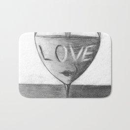 Glass of love Bath Mat