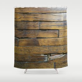Hardwood - Nabisco Building, Houston Shower Curtain