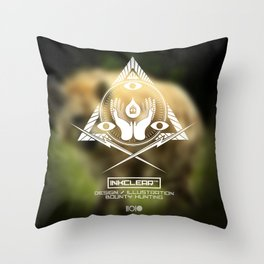 Inkclear ID Square Throw Pillow