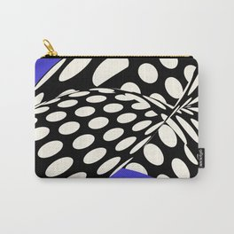 Wavy Dots on Blue Carry-All Pouch