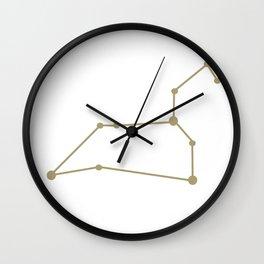 Leo (Sand & White) Wall Clock