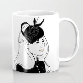 Meghan Markle Inspired Fascinator Portrait Coffee Mug