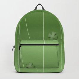 Green Clover Modern Print Backpack