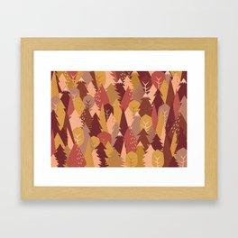 warm autumn woods Framed Art Print