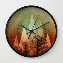 TREES under MAGIC MOUNTAINS I Wall Clock
