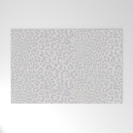 Snow Leopard Print Welcome Mat