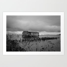 Black and white cannery.... Art Print