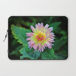 Dahlia With Green Leaves Laptop Sleeve
