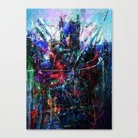 optimus prime Canvas Prints featuring OPTIMUS PRIME by Raditya Giga
