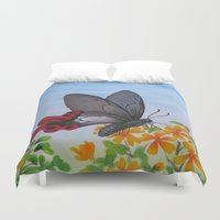 butterfly Duvet Covers featuring Butterfly by Amy Fan