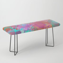 color splatter watercolor digital print Bench