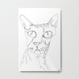 Hairless Cat - Magnificent One Metal Print