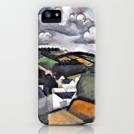 Landscape with a Village, The Hills Beyond Meulan - Digital Remastered Edition iPhone Case