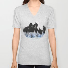 Cross Country Skiing Unisex V-Neck