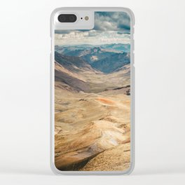 Man front of the mountain Clear iPhone Case