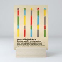 placard georg solti claudio arrau brahms Mini Art Print